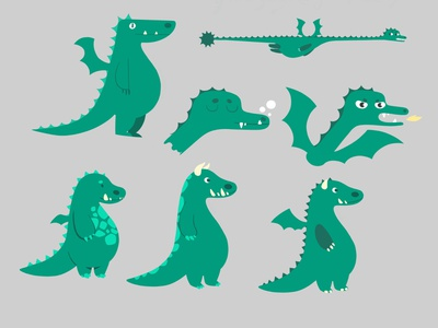 Dragon designs cute animal cute dragon illustration drawing