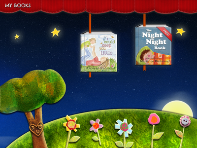 Book Reader Night Scene book reader illustration ipad children