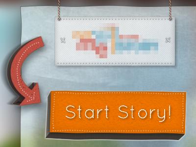 kids e-reader start page ui ipad kids