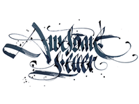 Calligraphy: Awesome Letter