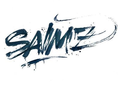 Brushpen: Salmz calligraphy lettering pokras lampas brushpen