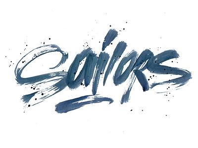 Brushpen: Sailors calligraphy lettering pokras lampas brushpen