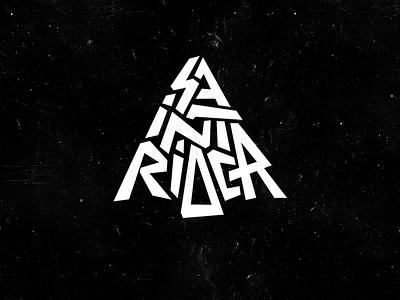 Logo: Saint Rider lettering pokras lampas vector logo