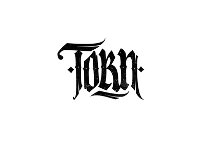 Logo: Torn lettering pokras lampas vector