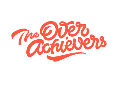Logo: The Overachievers calligraphy lettering pokras lampas logo