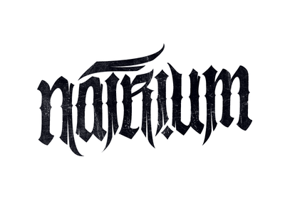 Logo: Natrium lettering pokras lampas calligrapy logo pokraslampas