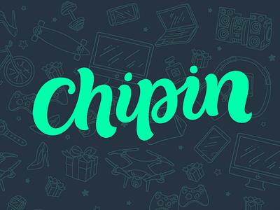 Logo: Chipin lettering logo pokras pokraslampas