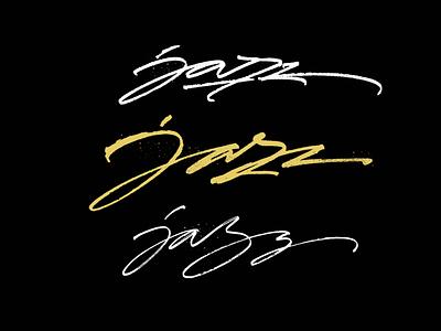 Jazz logo sketches lettering logo pokras pokraslampas