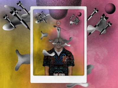Major Arcana - THE FOOL tarot cards tarot collageart modern creative art graphic design design illustration collage