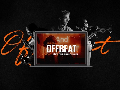 OFFBEAT - A Theme Made for Jazz Bars and Pubs collageart creative modern illustration collage graphic design graphic web design web ux ui