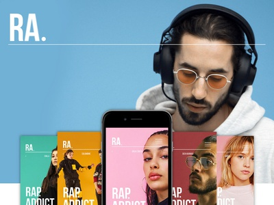 RA. - Music concept application hip-hop hip hop concept music artist music art rap app rap ui  ux design ui  ux ui ux animation ux design ux  ui ux app animations app branding app music app music