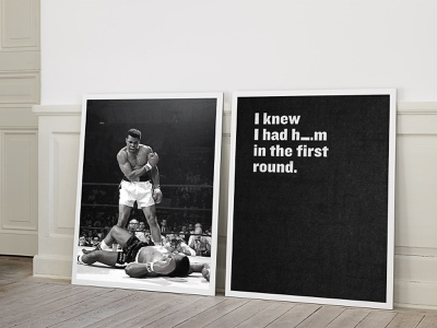 Ali - The Greatest Quotes poster sports quotes ali boxing typography graphic design design