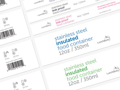 LunchBots design graphic design system typography packaging label branding