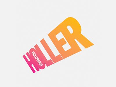 Logo for Hollywood Holler identity gossip celebrity hollywood logo shout holler