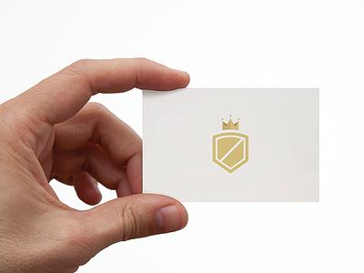 Caesar FInancial financial finance logomark caesar business card