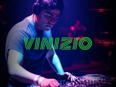 DJ Vinizio laser logotype identity logo dj electronic music