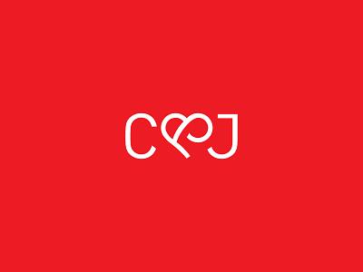 C&J Logo ampersand heart logo identity love
