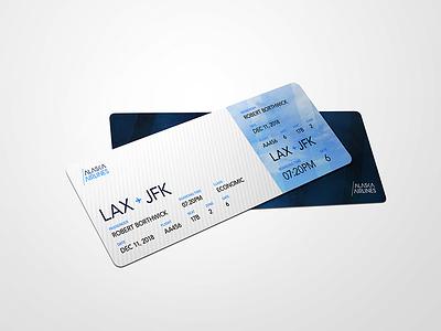 Alaska Airlines - Boarding Pass identity logo design graphic design branding alaska airline