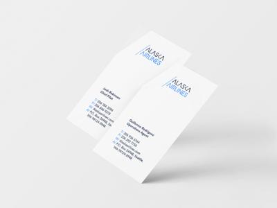 Alaska Airlines -  Business Cards