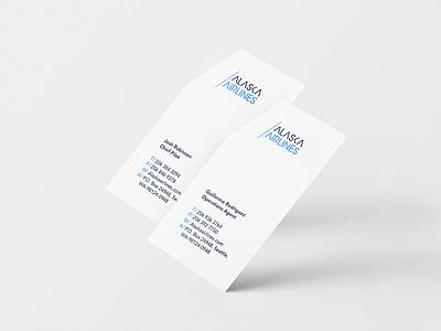 Alaska Airlines -  Business Cards airline alaska branding stationery business cards