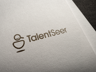Talent Seer Logo talent search firm recruiting identity logo