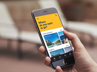 Expedia App app booking flight travel design ui