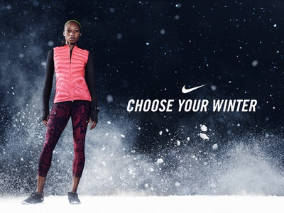 Nike - Choose Your Winter campaign winter moodboard