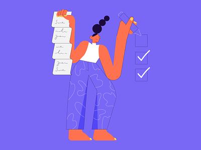 Checklist paperwork check checkbox schedule list checklist illustrator vector minimal design icon illustration