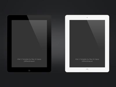 iPad 2 PSD psd free ipad ipad 2 apple
