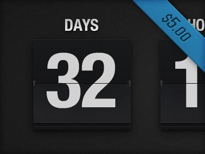 Flip Clock PSD for sale buy clock flip clock countdown count