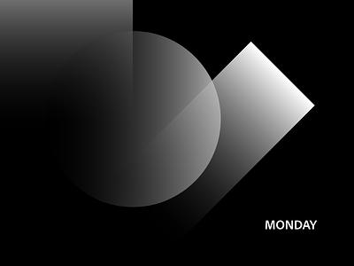 🌚 Monday minimal concept abstract adobexd