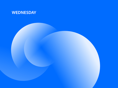 🌊 Wednesday minimal concept abstract adobexd