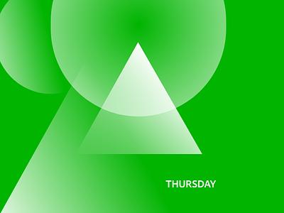 🌲 Thursday minimal concept abstract adobexd