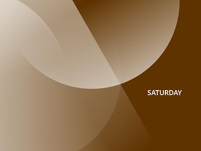 ⛰️ Saturday minimal concept abstract adobexd