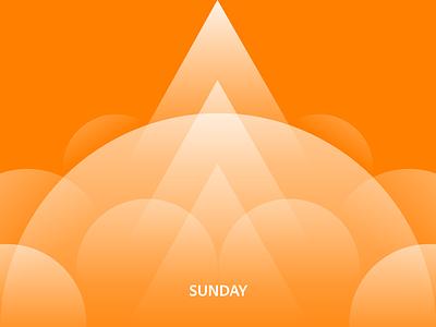 🌞 Sunday minimal concept abstract adobexd