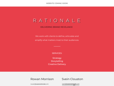 Coming soon - We are rationale