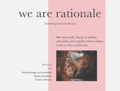 We are rationale - page concept