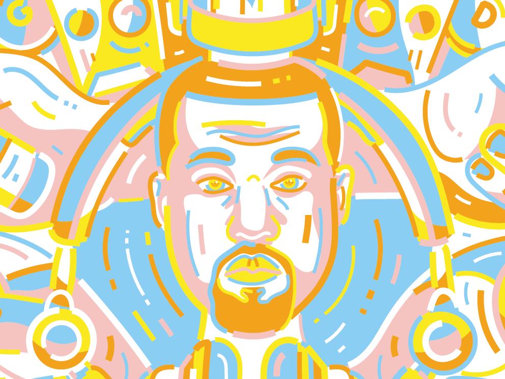 Kanye West adidas kanyewest music illustration