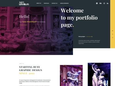 Tatev Khachikyan Portfolio behance dribbble logo web portfolio typography ui design marketing agency branding agency web  design landing page
