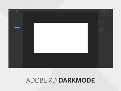 Adobe XD Dark mode adobe redesign madewithxd madewithadobexd dark mode clean design user interface flat design adobe xd