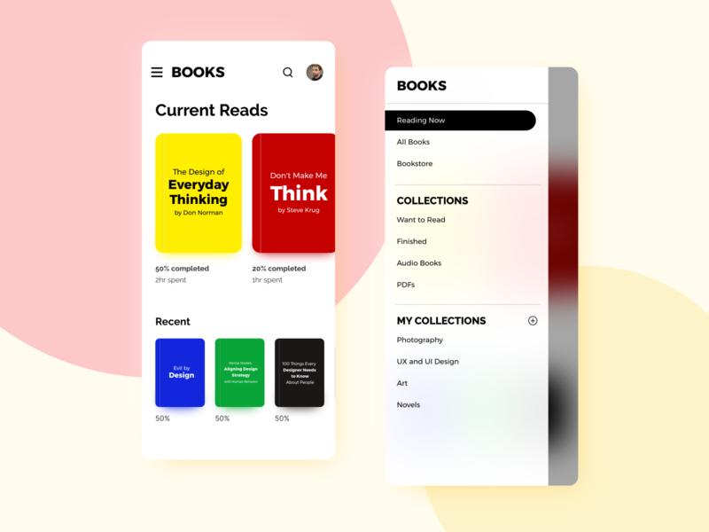 Books app concept for Android raleway montserrat flat design user interface design mobile app design ui clean design user experience adobe xd
