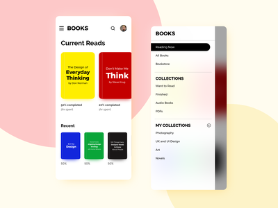 Books app concept for Android raleway montserrat flat design user interface design mobile app design ui clean design user experience adobe xd
