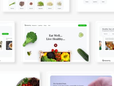 Healthy food website healthyrecipes healthfood healthy food app foodwebsite food madewithxd website design ui user experience user interface flat design adobe xd