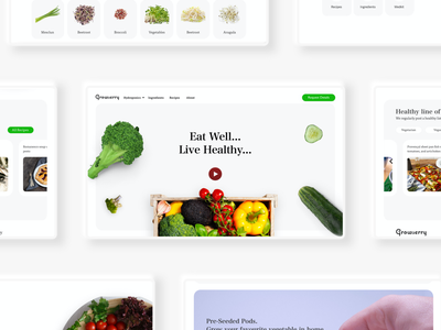 Healthy food website healthyrecipes healthfood healthy food app foodwebsite food madewithxd website design ui user experience user interface flat design adobe xd