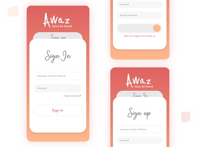Sign In / Sign Up UI Concept design