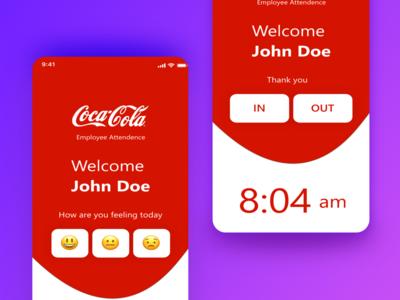 Attendance UI Concept design