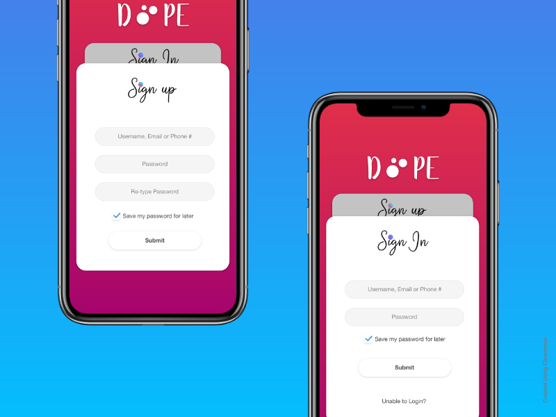 Sign In / Sign Up Concept Design app design mobile app design login design sign in clean design ui user interface user experience flat design adobe xd
