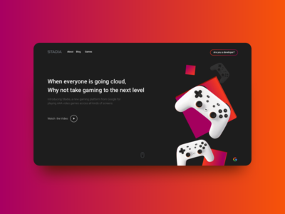 Stadia Website - Design Concept