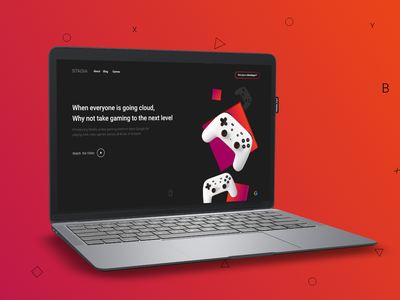 Stadia Website - Mockup design website design ui clean design user interface user experience flat design adobe xd
