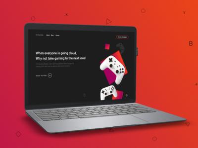 Stadia Website - Mockup